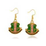 AKA Charm Earrings - I Am Greek Life