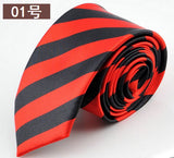 Polyester Striped Necktie - I Am Greek Life