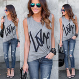 We ALL need LOVE Sleeveless Casual Crop Top Shirt