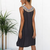 Wow Summer O Neck Dress - I Am Greek Life