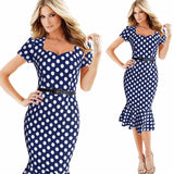 Elegant Square Collar - Stretch Dress - I Am Greek Life