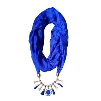 ZPB  Sorority Scarf Necklace for Women