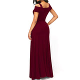 It's Going Down V Neck Front Slit Dress - I Am Greek Life