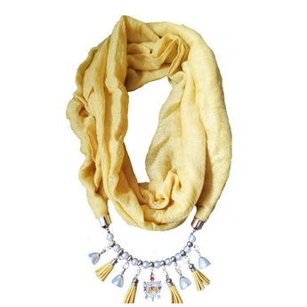 I Am SGR Scarf With Necklace