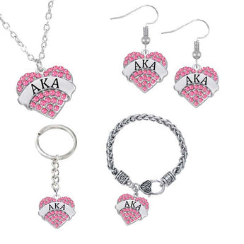 4 Piece AKA Jewelry Set - I Am Greek Life
