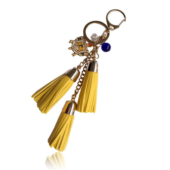 Leather Tassel Sigma Gamma Rho Key Chain - I Am Greek Life