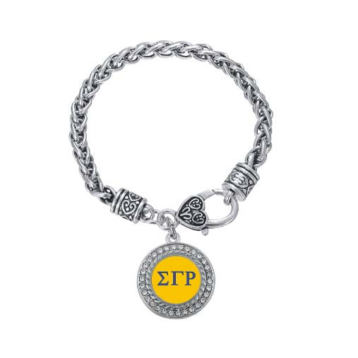 SGR Silver Circle Bracelet - I Am Greek Life