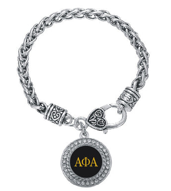 Round Alpha Phi Alpha Bracelet - I Am Greek Life