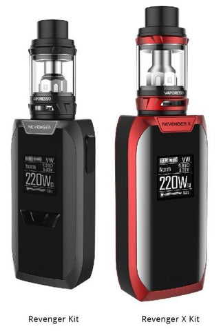 Vaporesso Revenger  X 220W TC Kit with 5 mls NRG tank ( Batteries Not Included )  need 2
