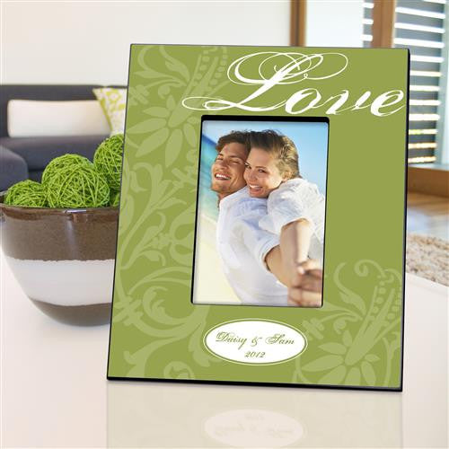 Personalized Picture Frame  - Love Green
