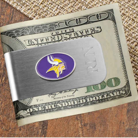 Personalized NFL Money Clip and Bottle Opener - Vikings