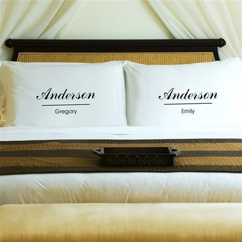 Couples Pillow Case Set - Classic