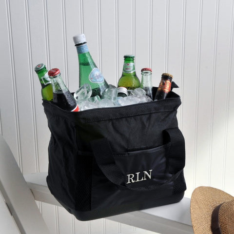 personalized wide mouth ice cooler bag