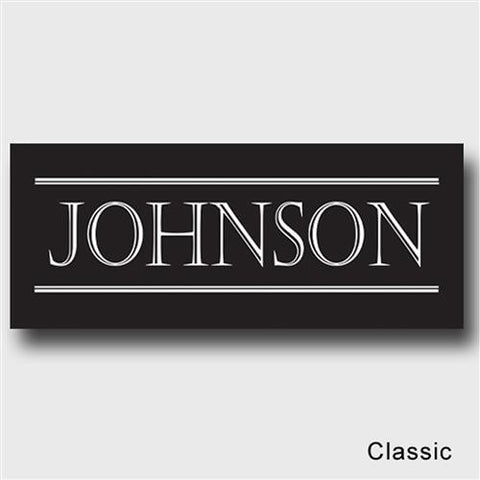Family First Personalized Last Name Canvas Sign