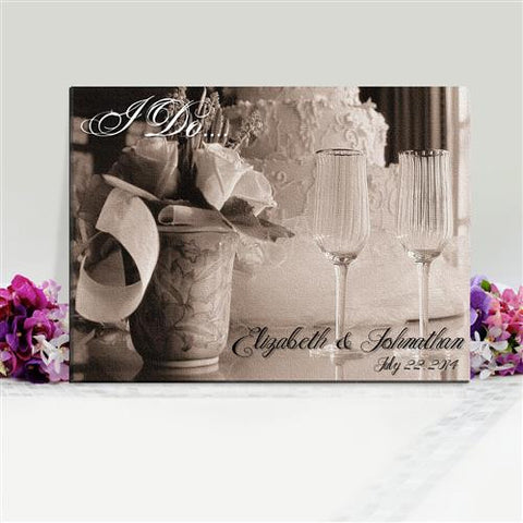 Caribbean Couple Canvas Sign with I Do