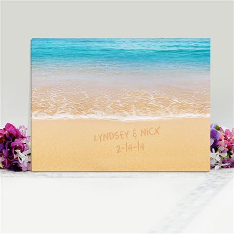 caribbean sand personalized canvas sign