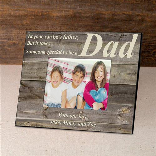 Personalized Father's Day Picture Frame - BarnwoodCream