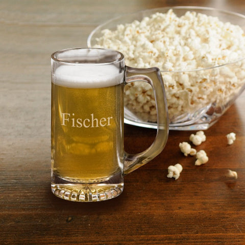 12 oz personalized beer mug