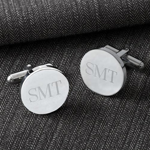 classic round personalized cufflinks