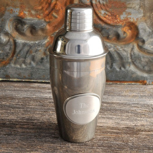 personalized mixologist cocktail shaker w pewter medallion 1