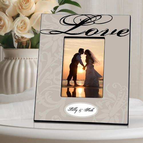 Personalized Picture Frame  - Love Grey