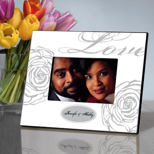 Personalized Picture Frame  - Love White