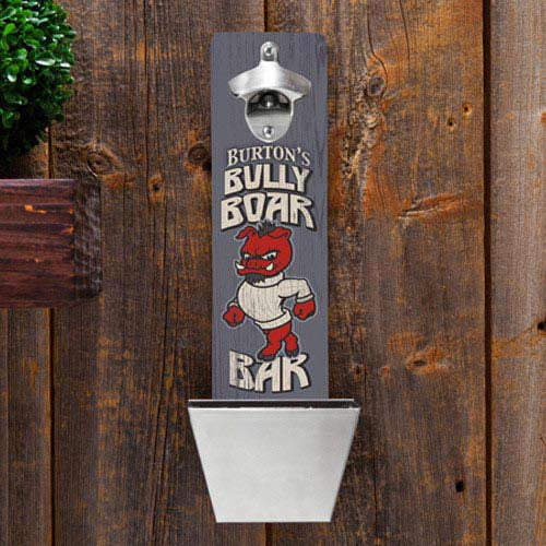 personalized wall mounted bottle opener Boar Bar