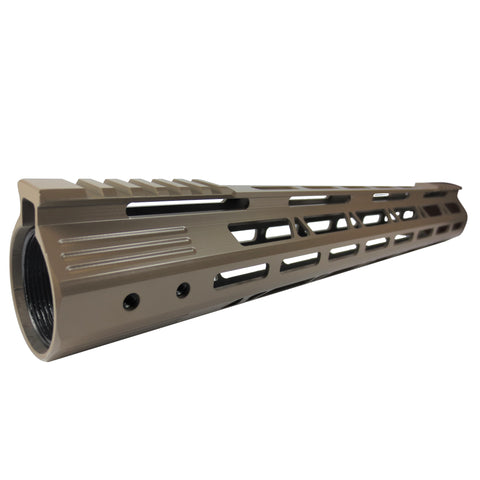 "15"" Cerokote Elite Flat Dark Earth Coating- Slim M-Lok Free Float Handguard for High Profile SM .308 Rifle"