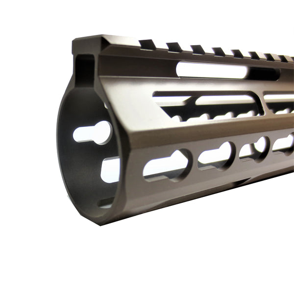 "15"" Cerokote Elite Flat Dark Earth Coating- Slim Keymod Free Float Handguard for High Profile .308 Rifle"