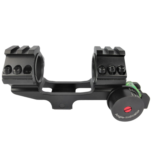 "Cantilever Scope Mount with Level Bubble for 1"" and 30mm scopes -SKU: 5002"