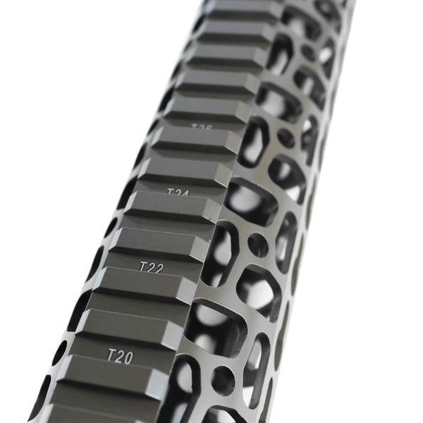 "15"" Cerakote Elite Flat Dark Earth Coating - Phantom Keymod Free Float Handguard - Steel Nut"