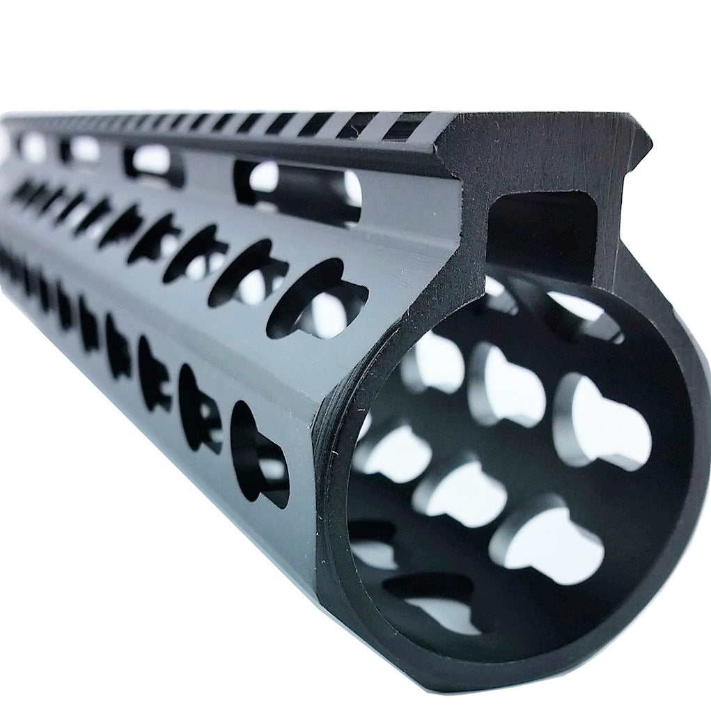 "10"" Slim Keymod Free Float Handguard,with Steel Nut"