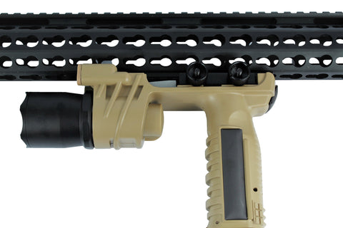Vertical Foregrip Grip 550 Lumens Flashlight- Flat Dark Earth