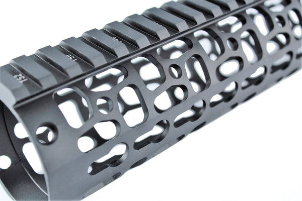 "10"" Phantom Series Keymod Free Float Handguard,with Steel Nut"