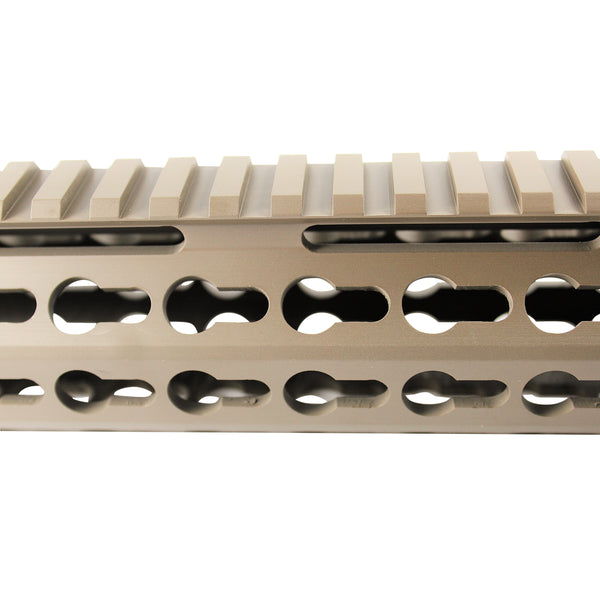 "12"" Cerakote Flat Dark Earth Coating - Slim Keymod Free Float Handguard - Steel Nut"