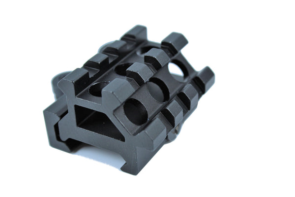 Quick Release Double Picatinny Rail Tactical Mount : 45 degree & Top Flat QD11