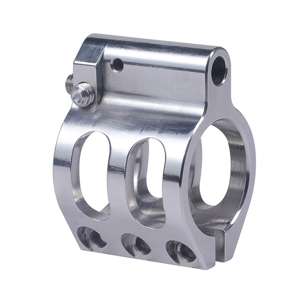 "Gas Block Stainless Adjustable Clamp-On 0.75""Low Profile Steel"