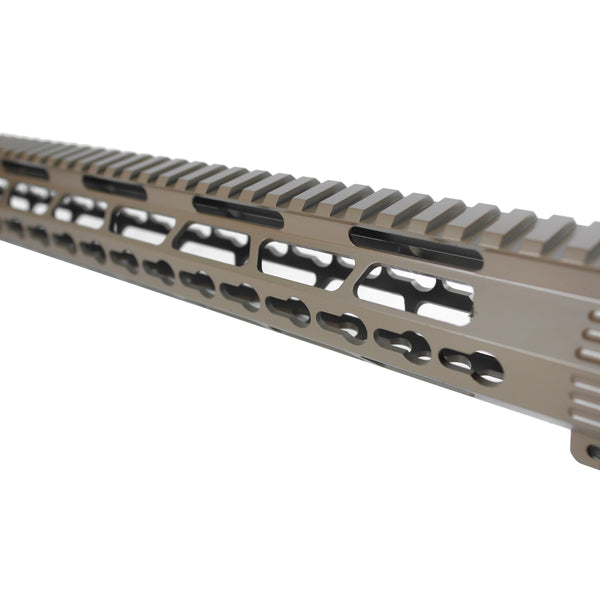 "15"" Cerakote Elite Flat Dark Earth Coating - Ultra light Shark Series Keymod Free Float Handguard"