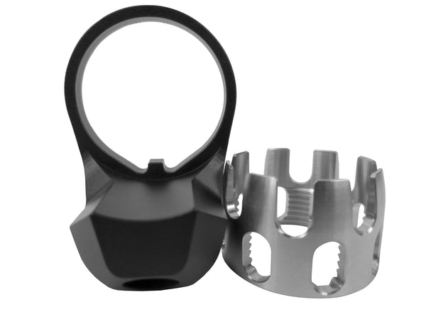 AR Enhanced Castle Nut & Extended End Plate - CastleNut-Stainless