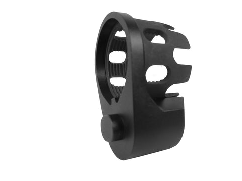 AR Enhanced Castle Nut & Extended End Plate - CastleNut-Black