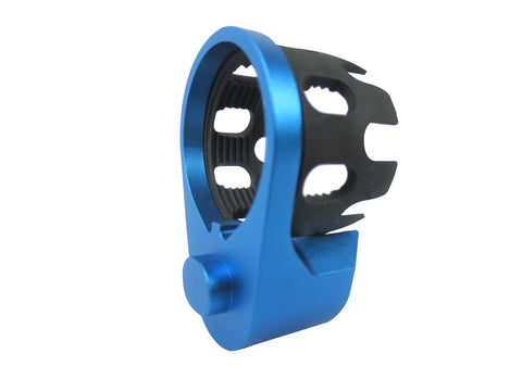 AR Enhanced Castle Nut & Extended End Plate - CastleNut-Blue