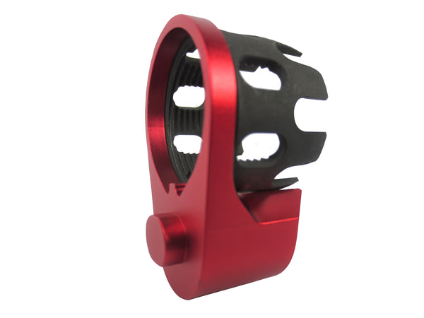 AR Enhanced Castle Nut & Extended End Plate - CastleNut-Red