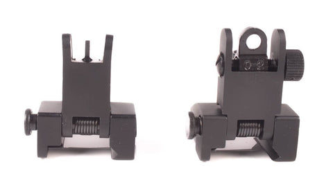 Mil Spec Micro Flip Up Backup Sights Mount Set - FR03