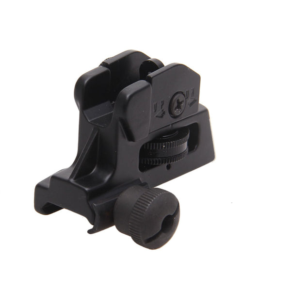 Rear Iron Sight for AR Style Rifles - Detachable Adjustable Picatinny Mount FR05