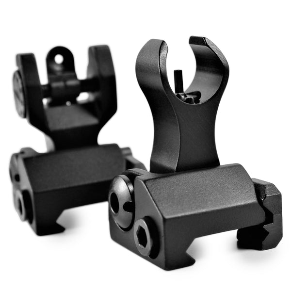 Mil Spec Flip Up Iron Rear/Front Sight Mount Set FR19