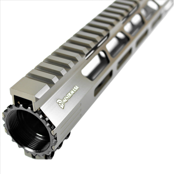 "10"" Cerakote Flat Dark Earth Coating - Ultra Light Slim M-Lok Shark Series Free Float Handguard"
