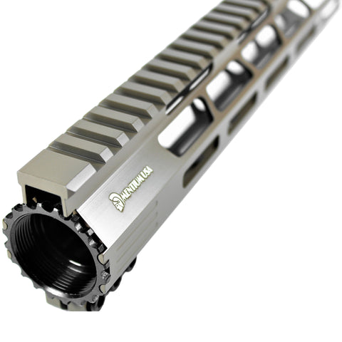 "15"" Cerakote Flat Dark Earth Coating - Ultra Light Slim M-Lok Shark Series Free Float Handguard"