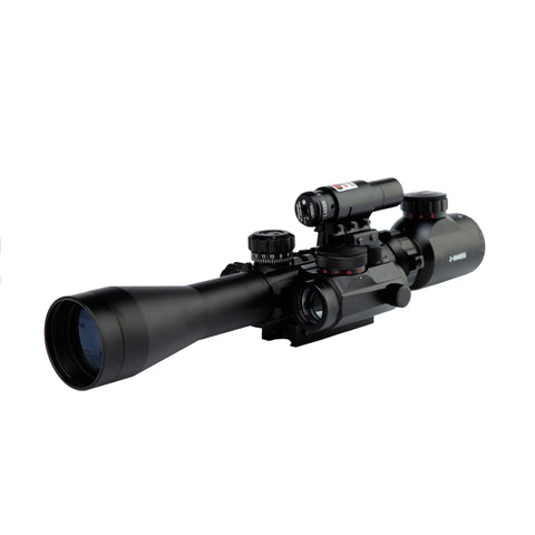 Scope-Dot Sight-Laser 3 in 1 Combo, C3-M1 9 x 40EG HD22 Compact Scope Red Laser Holographic Green / Red Dot Sight