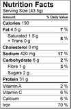 Nutrition Facts Vegan Protein Meal Replacement