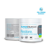 SuperHuman Restore - 100% Natural Sports Hydration Drink